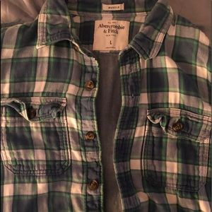 Abercrombie & Fitch Flannel like new (Large)